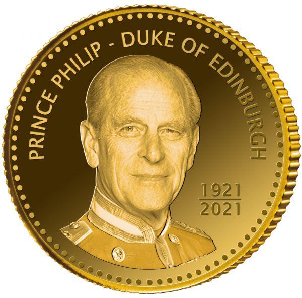 2,50 Dollar Niue Prinz Philip - Duke of Edinburgh 2021 Gold PP