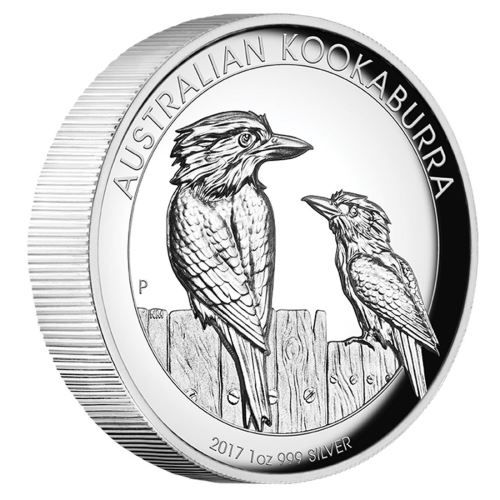 "1 $ Australien ""Kookaburra"" 2017 1oz Ag PP -Highrelief-"