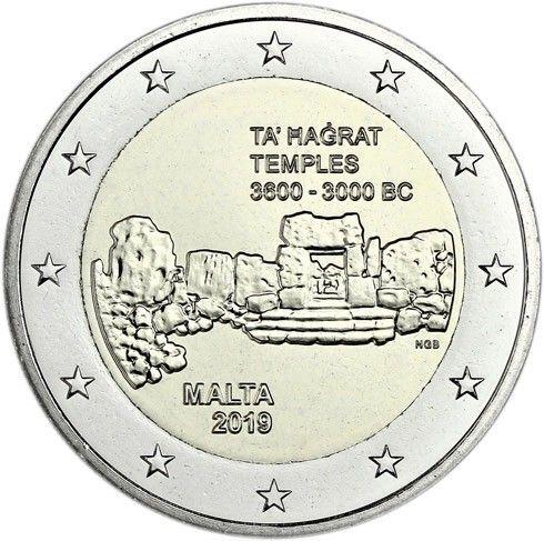 """2 € Malta """"Ta Hagrat Tempelanlage"""" 2019 CN bfr"""