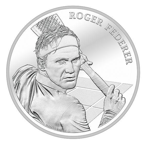 20 CHF Schweiz Roger Federer 2020 Silber St