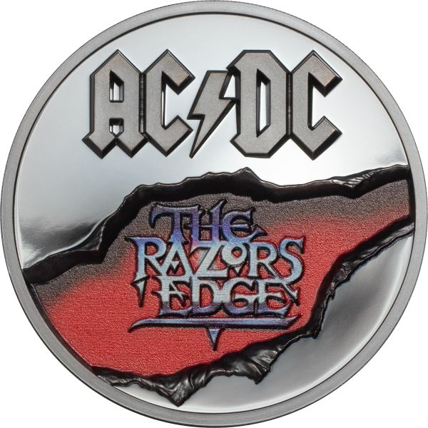 10 $ Cook Islands AC/DC The Razors Edge 2019 Silber PP
