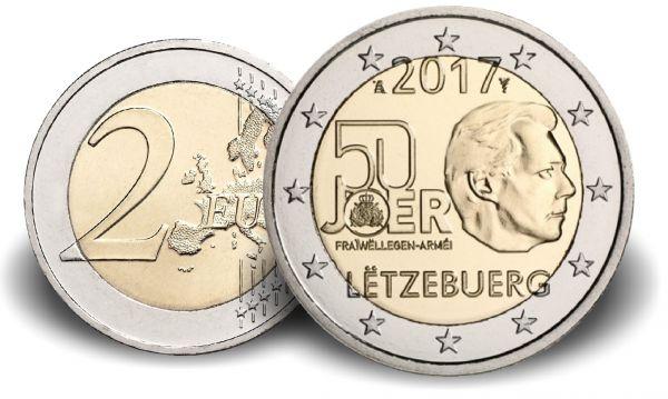 "2 € Luxemburg ""50 J. Freiwilliger Wehrdienst"" 2017 CN bfr"