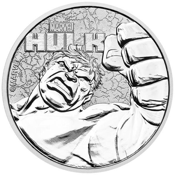 """1 Dollar Tuvalu """"Hulk"""" 2019 Silber St"""