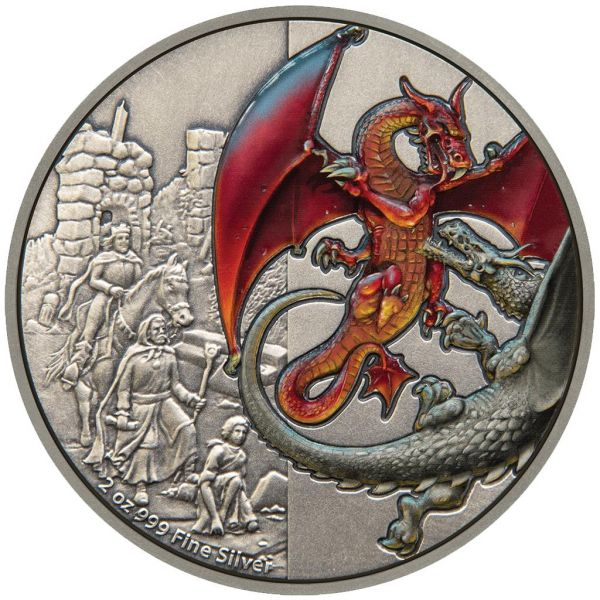 "5 Dollar Niue ""The Red Dragon"" 2019 Silber AF"