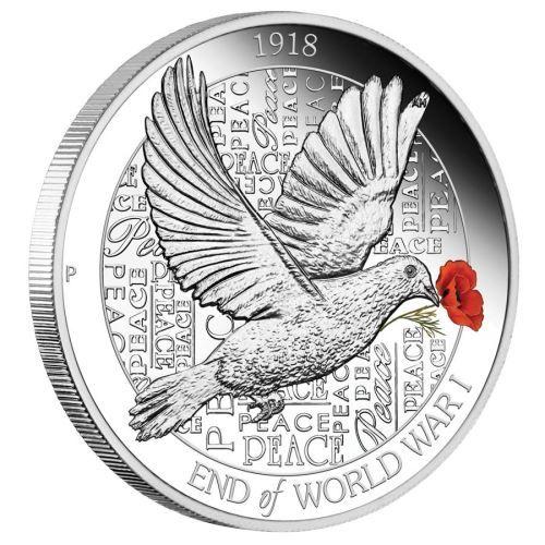 """1 $ Australien """"100 J. Ende des 1. Weltkriegs"""" 2018 Silber PP"""