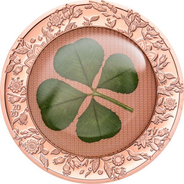 5 $ Palau Glücksmünze Kleeblatt 2020 Silber PP