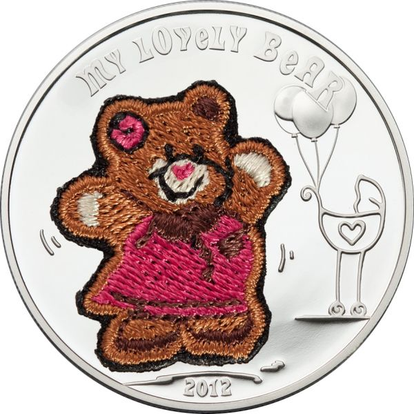 "5 $ Palau ""My Lovely Bear"" 2012 Silber PP"