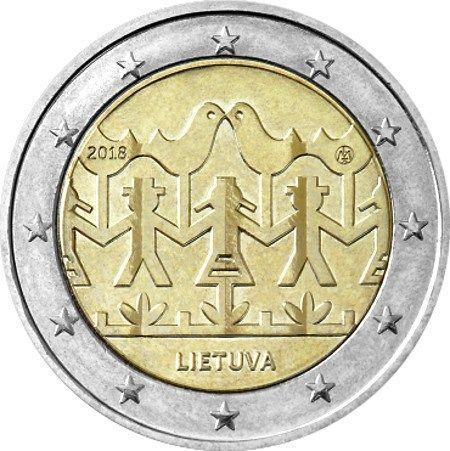 "2 € Litauen ""Gesang- und Tanzfestival"" 2018 CN bfr"