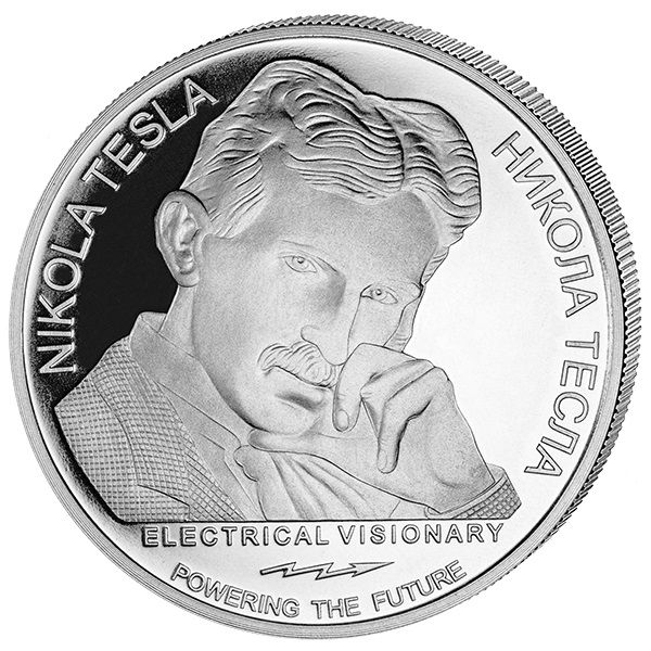 "100 Dinar Serbien ""Nikola Tesla - Wechselstrom"" 2018 Silber St"