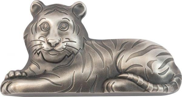 1000 Togrog Mongolei Jahr des Tigers 2022 Silber AF