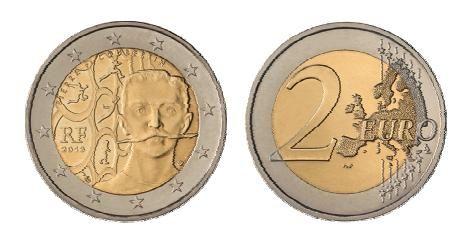2 € Frankreich Pierre de Coubertin 2013 cn vz
