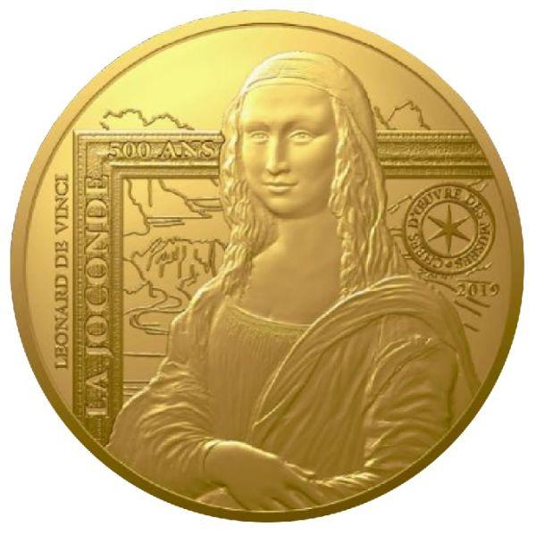 """50 € Frankr. """"Meisterwerke - Mona Lisa"""" 2019 Gold PP"""