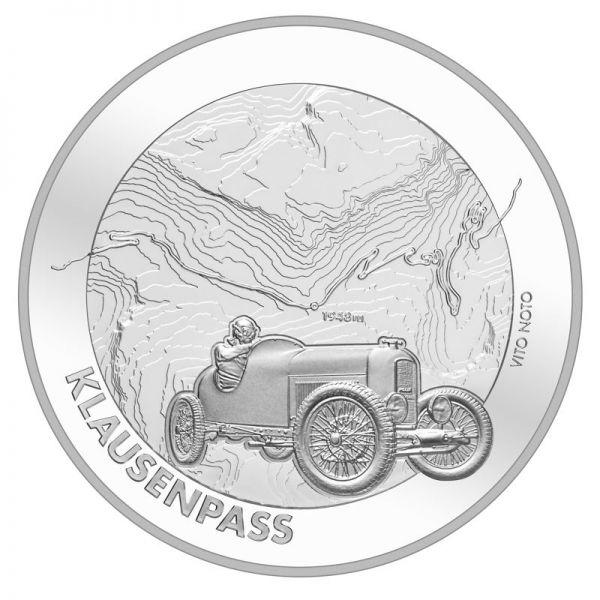 "20 CHF Schweiz ""Klausenpass"" 2018 Ag St"