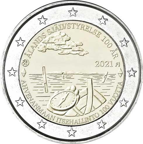 2 Euro Finnland 100 J. Selbstverwaltung Ålandinseln 2021 CN bfr