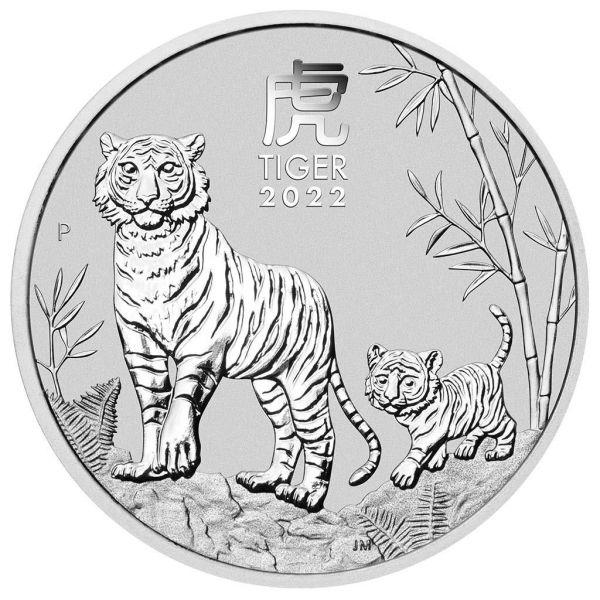 1 Dollar Australien Lunar Jahr des Tigers 2022 Silber St