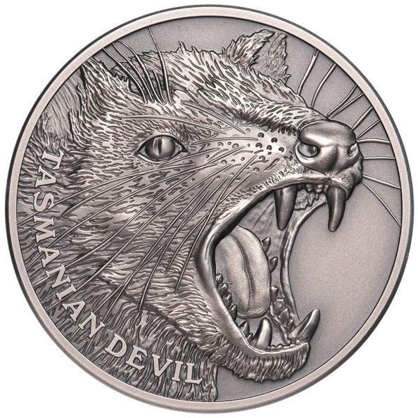 """1 Dollar Niue """"Tasmanischer Teufel"""" 2019 Silber AF"""
