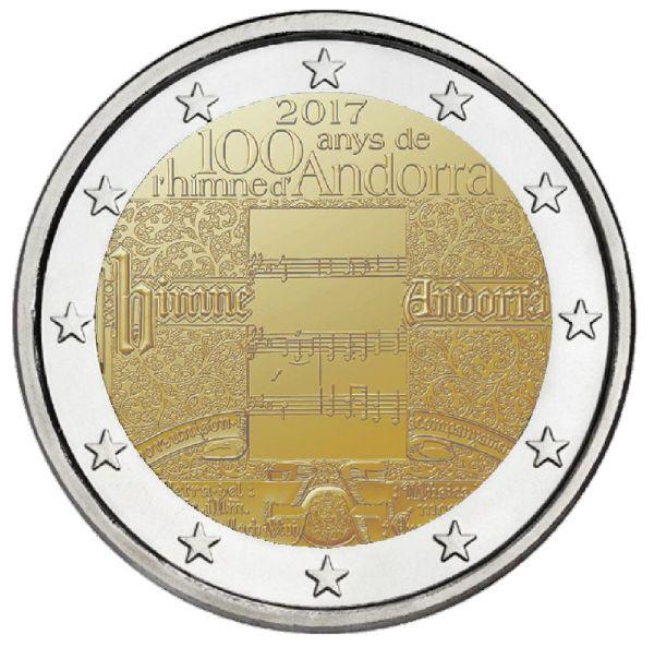 """2 € Andorra """"Nationalhymne"""" 2017 CN St"""