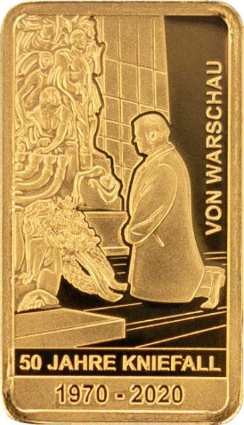 50 Jahre Kniefall von Warschau Goldbarren 0,5 Gramm PL