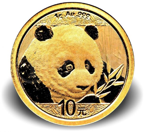 10 CNY China Panda 2019 Au St 1g