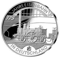10 Euro Deutschland 175 Jahre Eisenbahn 2010 Silber St -D-