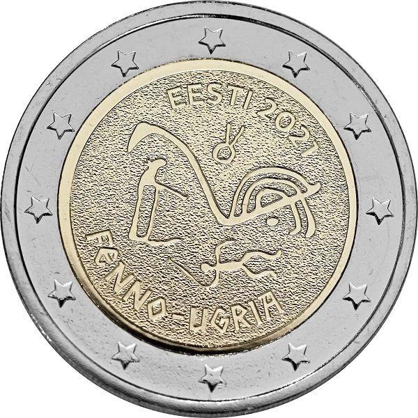 2 Euro Estland Finno-ugrische Völker 2021 CN bfr