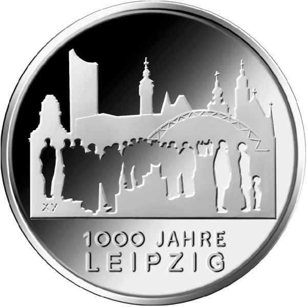 "10 € DE ""1000 Jahre Leipzig"" 2015 CN St"