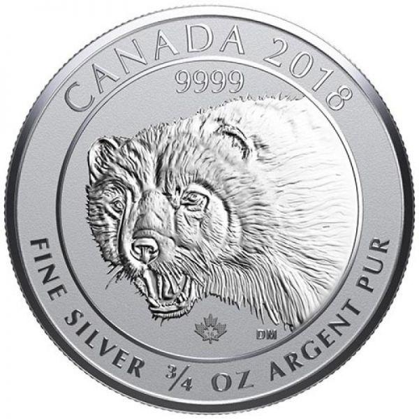 2 Dollar Kanada Wolverine - Vielfraß 2020 3/4oz Silber St
