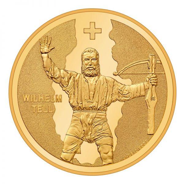 """50 CHF Schweiz """"Wilhelm Tell"""" 2018 Gold PP"""