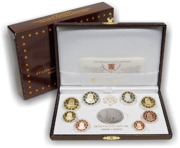 3,88 € Vatikan Jahressatz 2011 CN+Ag PP