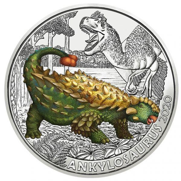 3 Euro Österreich Dinotaler - Ankylosaurus magniventris 2020 Buntmetall hgh