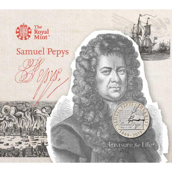 """2 Pfund Großbritannien """"Samuel Pepys Tagebuch"""" 2019 CuNi St"""