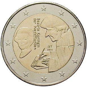 """2 € Niederlande """"Erasmus"""" 2011 CN vz"""