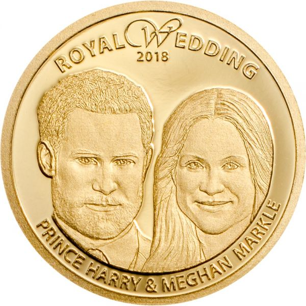 "5 $ Cook Island ""Royale Hochzeit - Harry & Meghan"" 2018 Gold PP"