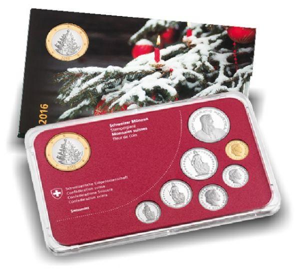 """8,85 CHF Schweiz """"Weihnachtssatz"""" 2016 St CN"""