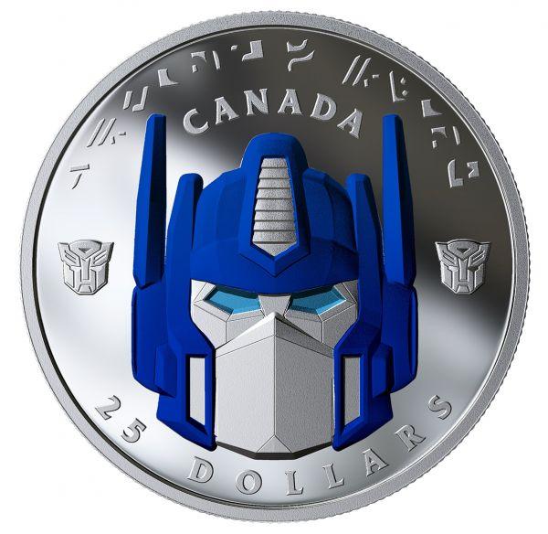 25 Dollar Kanada Transformers - Optimus Prime 2019 Silber PP