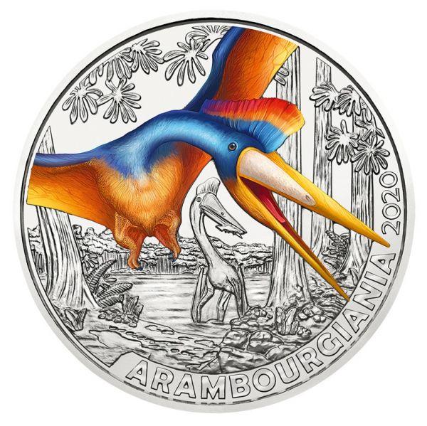 3 Euro Österreich Dinotaler - Arambourgiania philadelphiae 2020 Buntmetall hgh