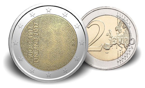 """2 € Finnland """"100 Jahre Unabhängigkeit"""" 2017 Cn bfr"""