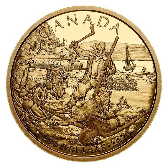 200 Dollar Kanada Neufrankreich 2020 Gold PP