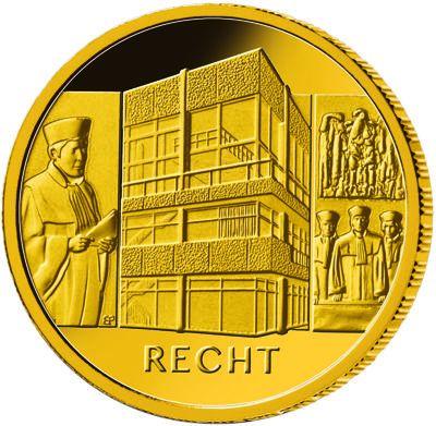 100 Euro DE Säulen der Demokratie - Recht 2021 Gold St -G-