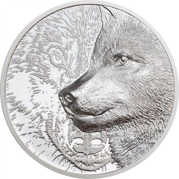 500 Togrog Mongolei Mystic Wolf 2021 Silber PP 1oz