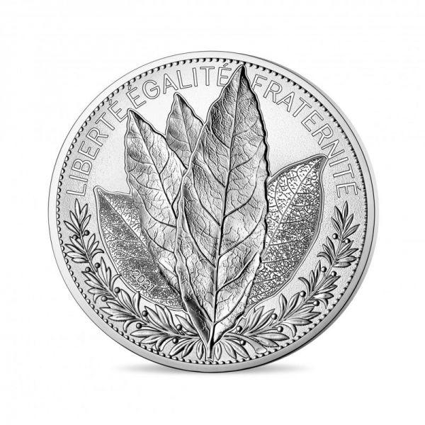 100 Euro Frankreich Der Lorbeer - Natur Frankreichs 2021 Silber St