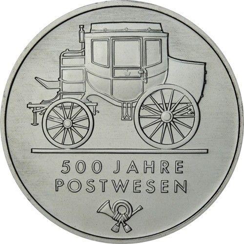 5 Mark DDR 500 Jahre Postwesen 1990 Cn St