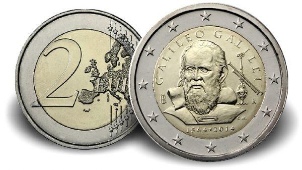 "2 € Italien ""450. Geburtstag Galileo Galilei"" 2014 CN vz"