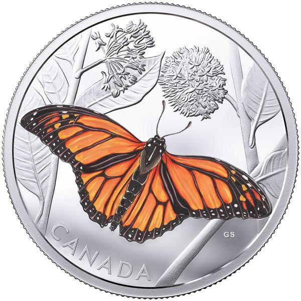 """50 $ Kanada """"Monarchfalter"""" 2017 3oz Ag PP"""