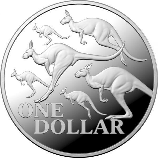 1 Dollar Australien Rotes Känguru 2020 Etui Silber PP