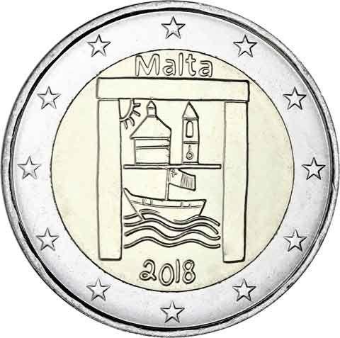 "2 € Malta ""Kulturelles Erbe"" 2018 CN bfr"