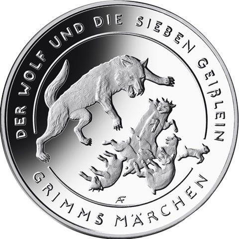 20 Euro DE Der Wolf und die Sieben Geißlein 2020 Silber PP -D-