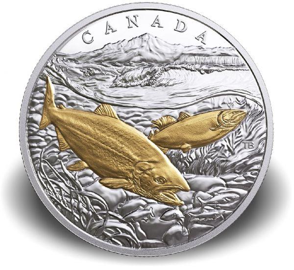 "20 $ Kanada ""Pazifik Lachs"" 2017 Ag PP"