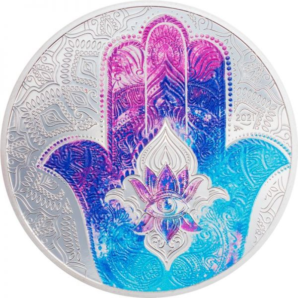 5 Dollar Palau Hand of Hamsa 2021 Silber PP