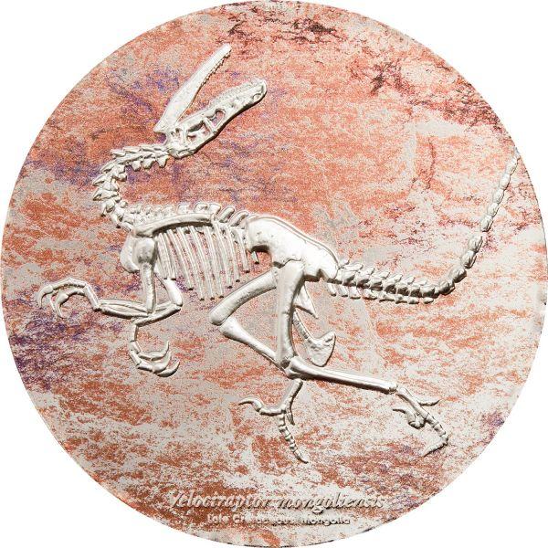 """2000 Togrog Mongolei """"Velociraptor"""" 2018 Silber PL"""